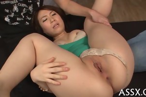 Asian gangbang with scorching anal
