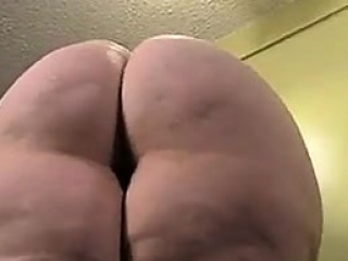 Attractive BBW nympho is oiling up her large booty