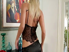 Blonde Luna Places On Horny Lingerie