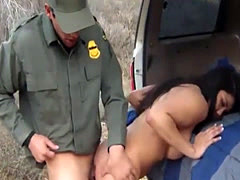 Huge tits latin tart banged by BP agent in lots of positions