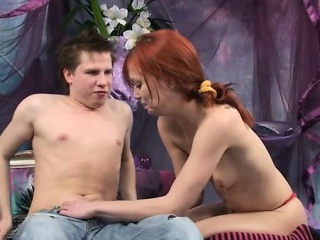Magnificence is using guys cock after tough doggystyle drilling