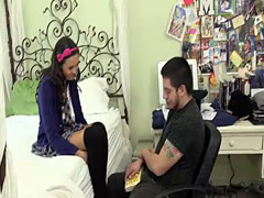 Maya Grand experience her Bible trainer on high