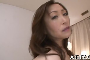 Sizzling tits Asian wild toying