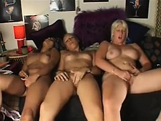 three tremendous scorching women masturbation on cam collectively