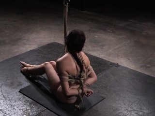 Versatile yoga submissive tiedup by maledom
