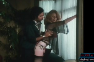 Younger Ron Jeremy fucking an enormous tits milf between her tits