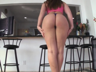 Large butt babe rides dick