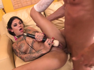 Tattoo Brunette Bonnie Rotten fucks truly arduous